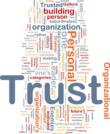 Background concept illustration of building personal trust Stock Illustration - 6314535