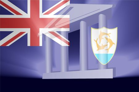 anguilla: Flag of Anguilla , national country symbol illustration government legal administration