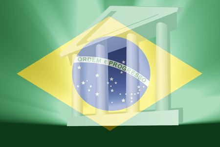 law of brazil: Flag of Brazil, national country symbol illustration government legal administration