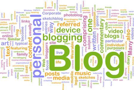 microblogging: Background concept illustration of internet web blog Stock Photo