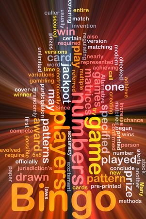 matrices: Background concept wordcloud illustration of bingo game pattern glowing light