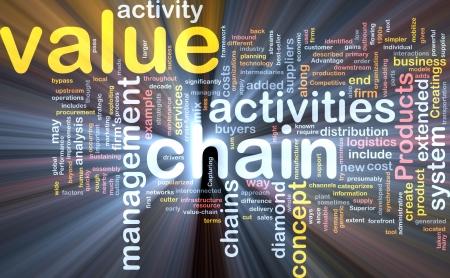 valor: Concepto de nube ilustraci�n del valor de la cadena de efectos de luz resplandeciente de Word