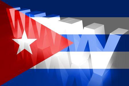 Flag of Cuba, national symbol illustration clipart www internet e-commerce illustration