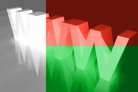 Flag of Madagascar, national country symbol illustration www internet e-commerce illustration