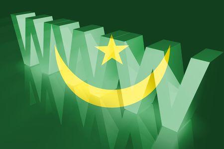 mauritania: Flag of Mauritania, national country symbol illustration www internet e-commerce Stock Photo