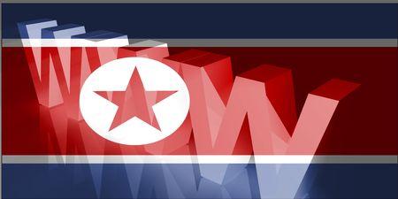 Flag of North Korea, national country symbol illustration www internet e-commerce Stock Illustration - 6361177