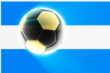 qualify: Flag of Argentina, national symbol illustration clipart sports soccer football Stock Photo