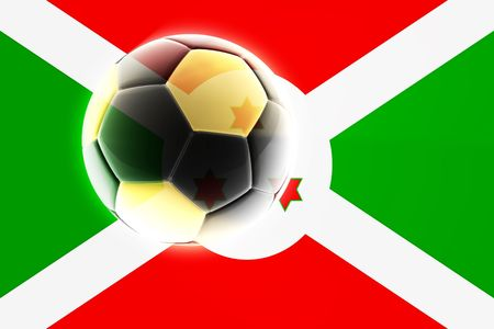 qualify: Flag of Burundi, national country symbol illustration sports soccer football Stock Photo