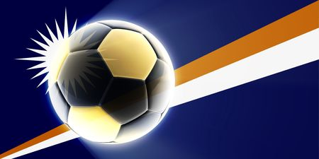 qualify: Flag of Marshall Islands, national country symbol illustration sports soccer football