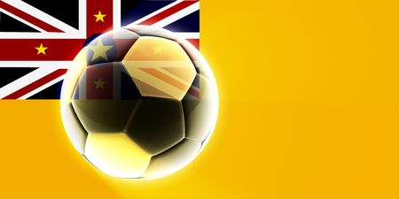 niue: Flag of Niue, national country symbol illustration sports soccer football