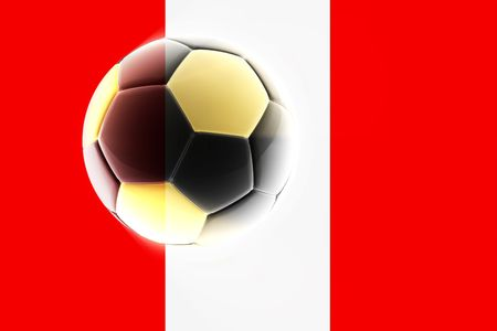 Flag of Peru, national country symbol illustration sports soccer football illustration