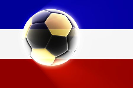 serbia and montenegro: Flag of Serbia and Montenegro, national country symbol illustration sports soccer football