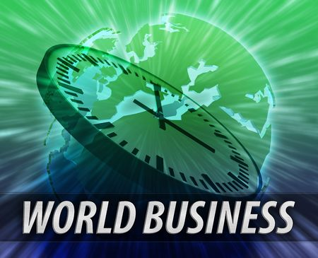 Europe international business time logistics management concept background photo