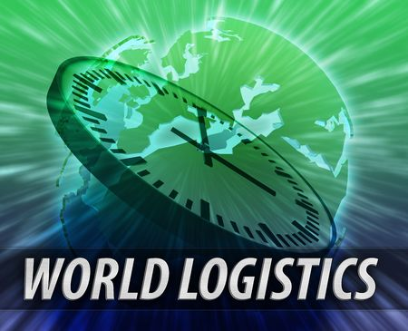 Europe international business time logistics management concept background Stock Photo - 6365238