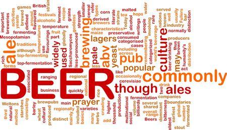 ferment: Background concept illustration of beer alcohol beverage