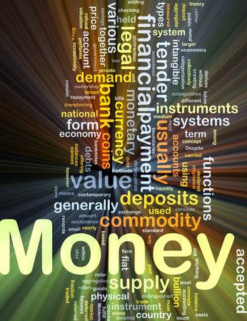 transferring: Background concept illustration of financial money payment glowing light