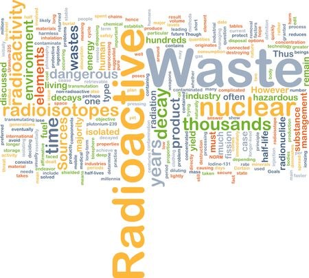 hazardous waste: Background concept wordcloud illustration of hazardous radioactive waste