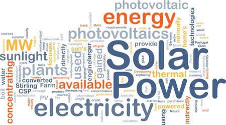solar home: Background concept illustration of solar power energy