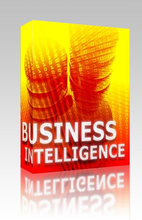 Software package box Business intelligence abstract, computer data information concept illustration illustration