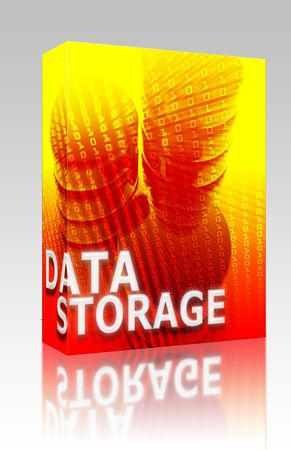 Software package box Data storage abstract, computer technology information concept illustration illustration