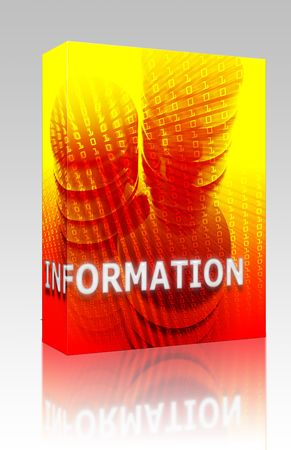 Software package box Information Data storage abstract, computer technology concept illustration illustration