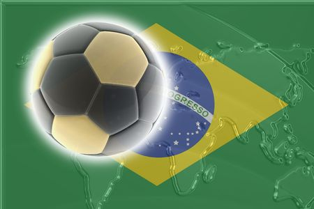 world championship: Flag of Brazil, national country symbol illustration sports soccer football