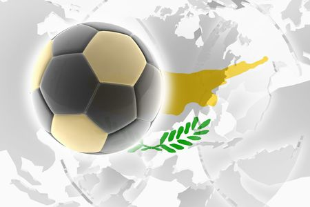 Flag of Cyprus, national symbol illustration clipart sports soccer football illustration
