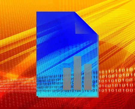 Document user finance bar graph types concept background illustration illustration