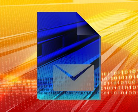 Document mail letter line graph types concept background illustration illustration