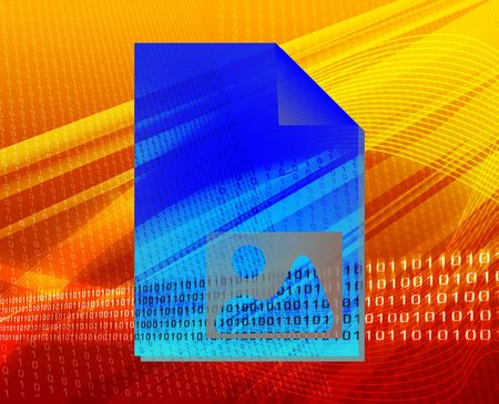 Document user photo image types concept background illustration illustration