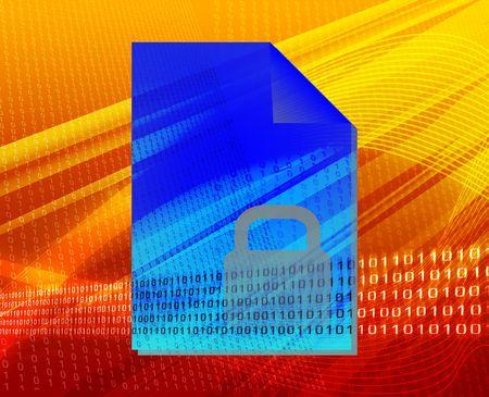 Document user locked security types concept background illustration illustration