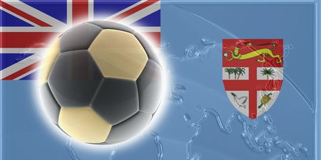 fiji: Flag of Fiji, national country symbol illustration sports soccer football