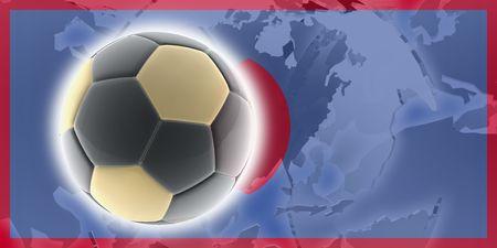 guam: Flag of Guam, national country symbol illustration sports soccer football