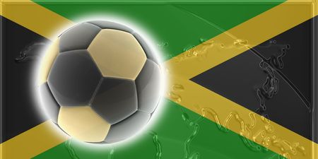 Flag of Jamaica, national country symbol illustration sports soccer football illustration