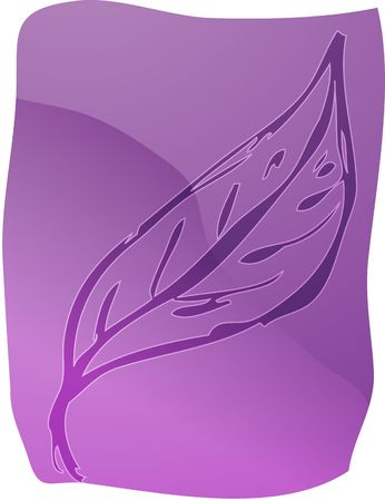 lineart: Illustration of a leaf smooth zen lineart Stock Photo
