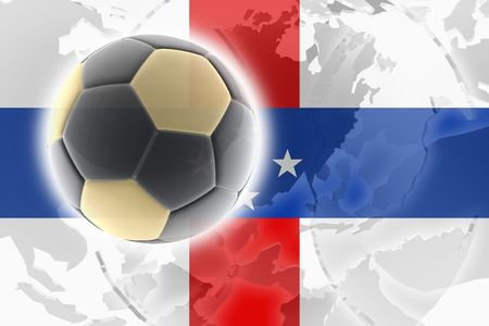 antilles: Flag ofNetherland Antilles, national country symbol illustration sports soccer football