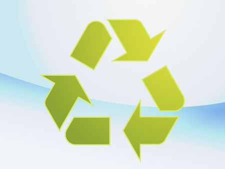 Recycling eco symbol illustration of three pointing arrows illustration