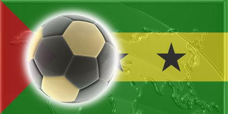 tome: Flag of Sao Tome and Principe, national country symbol illustration sports soccer football