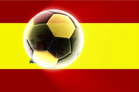 Flag of Spain, national country symbol illustration sports soccer football illustration