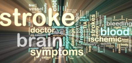 paralysis: Word cloud tags concept illustration of stroke glowing neon light style Stock Photo