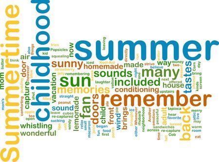 taxonomy: Word cloud concept illustration of summer season
