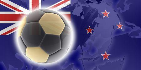 tokelau: Flag of Tokelau, national country symbol illustration sports soccer football