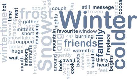 taxonomy: Word cloud concept illustration of winter season