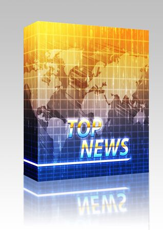 Software package box Latest breaking news newsflash splash screen announcement illustration illustration