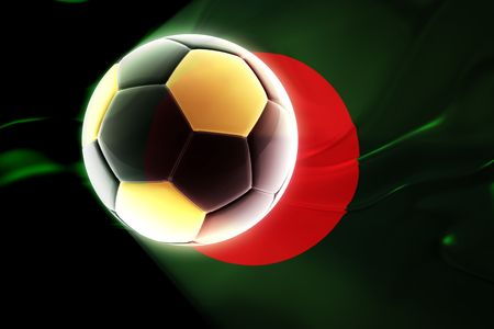 Flag of Bangladesh, national country symbol illustration wavy fabric sports soccer football Stock Photo