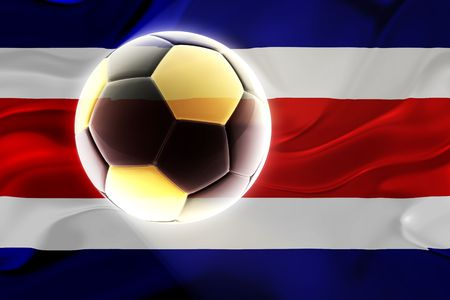 costa rica: Flag of Costa Rica , national country symbol illustration wavy fabric sports soccer football Stock Photo