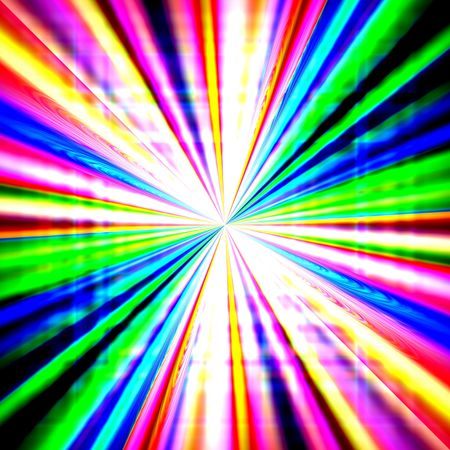 Radial zoom burst of energy, abstract background illustration