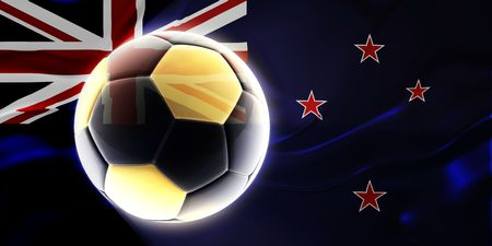 tokelau: Flag of Tokelau, national country symbol illustration wavy fabric sports soccer football