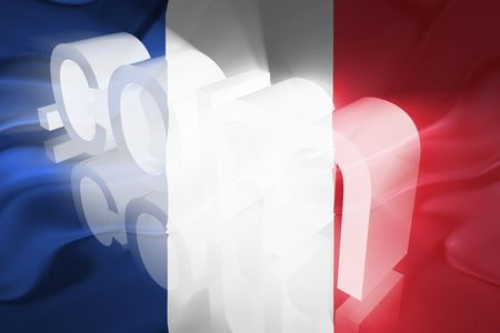 Flag of France, national country symbol illustration wavy fabric www internet e-commerce Stock Illustration - 6424063