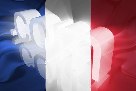 Flag of France, national country symbol illustration wavy fabric www internet e-commerce Stock Illustration - 6424063